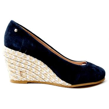 KATE APPLEBY MARINA WEDGE SHOE - NAVY