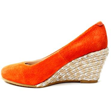KATE APPLEBY MARINA WEDGE SHOE - ORANGE