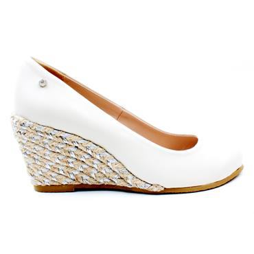 KATE APPLEBY MARINA WEDGE SHOE - WHITE