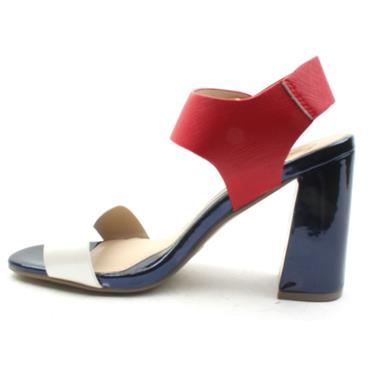 MILLIE AND CO STRAP SANDAL - NAVY/RED