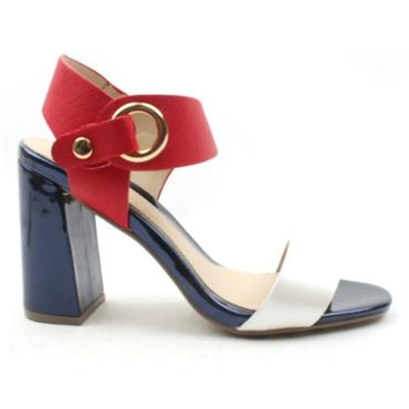 a5d3a2a859 MILLIE AND CO STRAP SANDAL - WHITE MULTI | ShoeShop.ie | Cordners ...