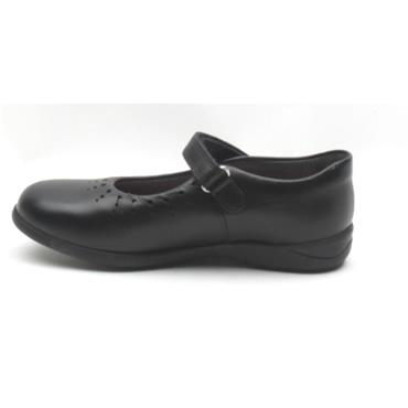 STARTRITE MARY JANE STRAP SHOE - BLACK F