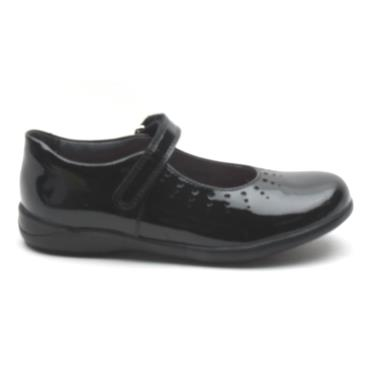 STARTRITE MARY JANE STRAP SHOE - BLACK PATENT E