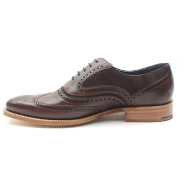 BARKER MCCLEAN LACED SHOE - CHOC