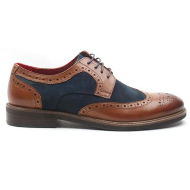MORGAN MGN0810 LACED SHOE - TAN BLUE