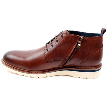 MORGAN MGN1116 LACED BOOT - DARK TAN