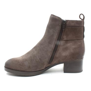 CLARKS MILA CHARM HEELED BOOT - TAUPE