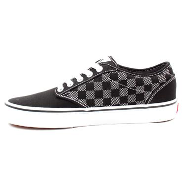 VANS MNATWOOD LACED SHOE - BLACK WHITE CHECK