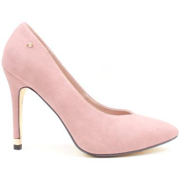 KATE APPLEBY MONMORE COURT SHOE - Pink Suede