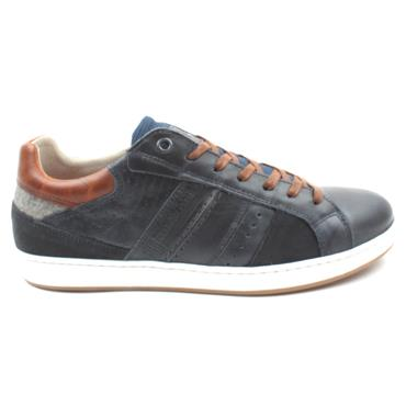 LLOYD AND PRYCE MORTLOCK LACED SHOE - NAVY
