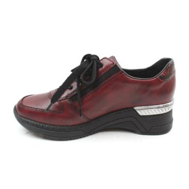 RIEKER N4321 LADIES SHOE - BURGUNDY