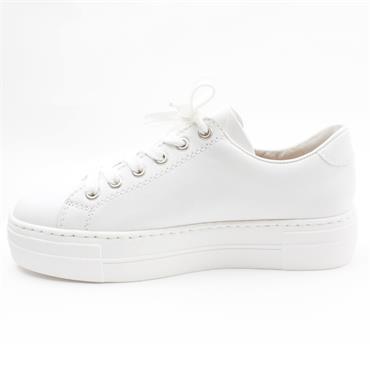RIEKER N4921 LACED SHOE - WHITE