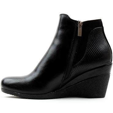 SUSST NADINE0 WEDGE ANKLE BOOT - Black