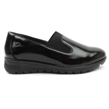 HEAVENLY FEET SLIP ON NAPLES - BLACK PATENT