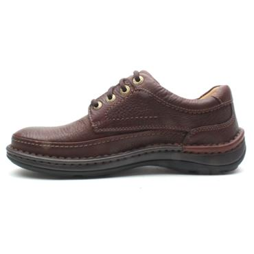 CLARKS LACEDSHOE NATURE THREE - MAHOGANY