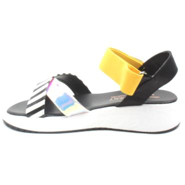 UNA HEALY NICE THINGS SANDAL - BLACK MULTI