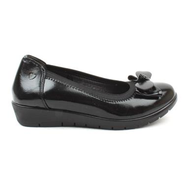 HEAVENLY FEET SLIP ON NINA - BLACK PATENT