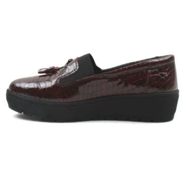 SOFTMODE NITA TOGGLE SHOE - BURGUNDY