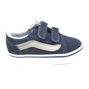 VANS OLDSKOOL TODDLERS CANVAS SHOE - BLUE SILVER