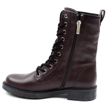 CLARKS ORINOCO2 STYLE LACED BOOT - BURGUNDY