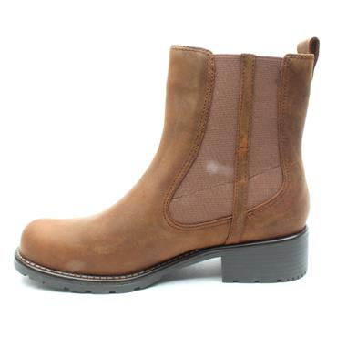 CLARKS ORINOCO CLUB GUSSET BOOT - BROWN D