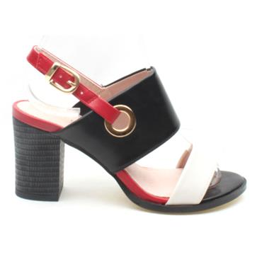 KATE APPLEBY PADSTOW SANDAL - BLACK/RED