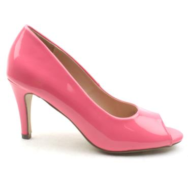 MILLIE AND CO PAIGE PEEP TOE SHOE - PINK PATENT
