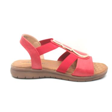 HEAVENLY FEET PALM SANDAL - RED
