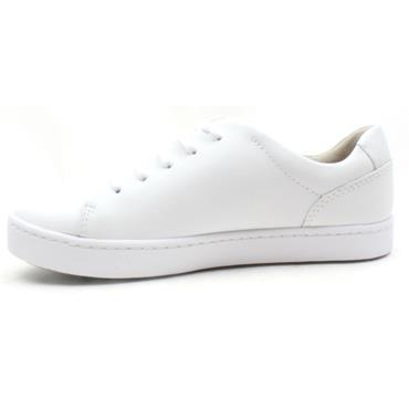 CLARKS PAWLEY SPRINGS LACED SHOE - WHITE D