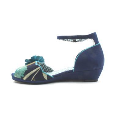 RUBY SHOO PHYLLIS LOW  SANDAL - BLUE