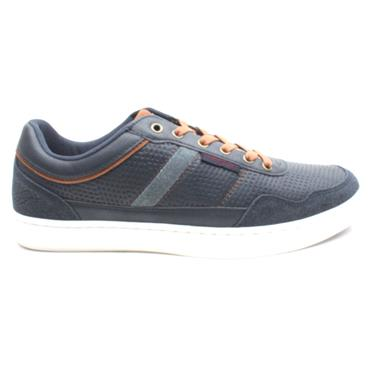 LLOYD AND PRYCE POLDEN LACED SHOE - NAVY