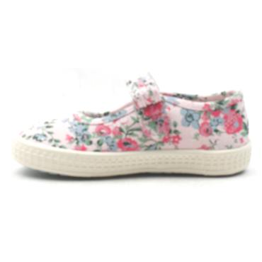 STARTRITE POSY CANVAS SHOE - PINK F