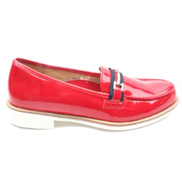 REDZ PS205-1009-010  LOAFER SHOE - RED PATENT