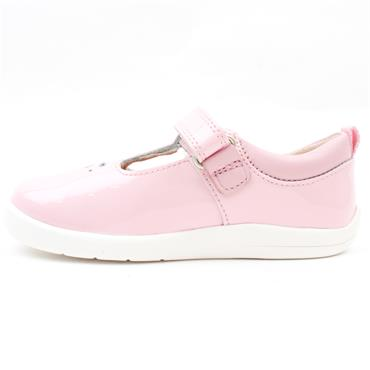 STARTRITE PUZZLE TBAR SHOE - PINK PATENT F