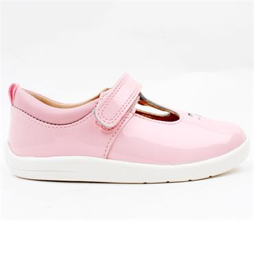 STARTRITE PUZZLE TBAR SHOE - PINK PATENT G