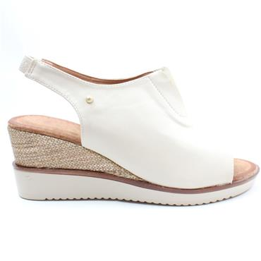 ZANNI AND CO RAHINA WEDGE SANDAL - CREAM