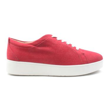 FIT FLOP RALLY DENIM LACED SHOE - RED