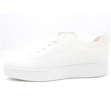 FITFLOP RALLY TONAL LACED SHOE - WHITE
