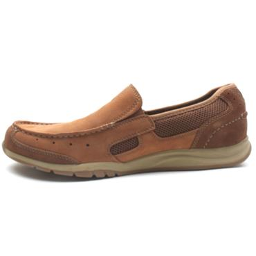 CLARKS MENS SLIP ON SHOE - TAN