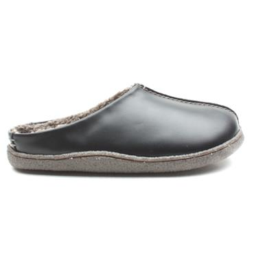 CLARKS RELAXEDSTYLE SLIPPER - BLACK LEATHER