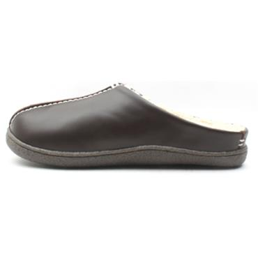 CLARKS MENS RELAXEDSTYLE SLIPPER - BROWN