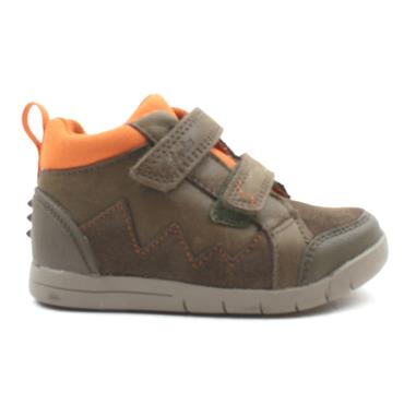 CLARKS REX PARK JUNIOR BOOT - GREEN G
