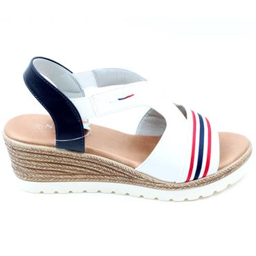 SUSST RIVA 21 WEDGE SANDAL - WHITE