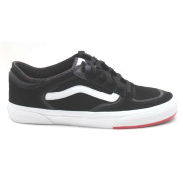 VANS ROWLEY CLASSIC LACED SHOE - BLACK/RED