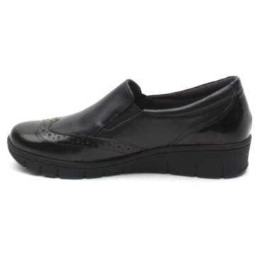 SOFTMODE SADIE SLIP ON SHOE - BLACK LEATHER