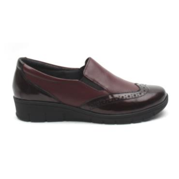 SOFTMODE SADIE SLIP ON SHOE - BURGUNDY LEATHER