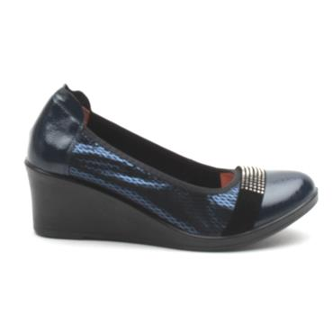 INEA SAGAIE WEDGE SHOE - BLUE