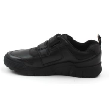 CLARKS SCOOTER SPEED K VELCRO SHOE - BLACK E