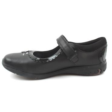 CLARKS SEA SHIMMER JUNIOR SHOE - BLACK E