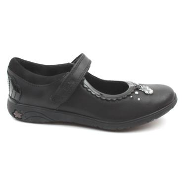 CLARKS SEA SHIMMER JUNIOR SHOE - BLACK F